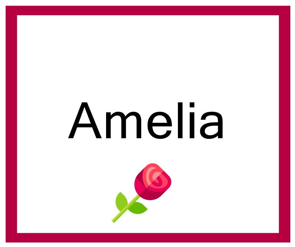 Combinaciones de Nombres Amelia - Niña