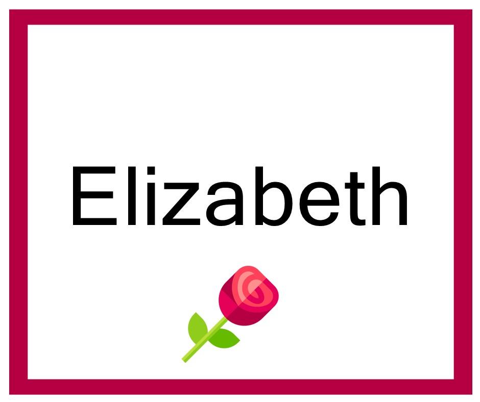 Combinaciones de Nombres Elizabeth - Niña