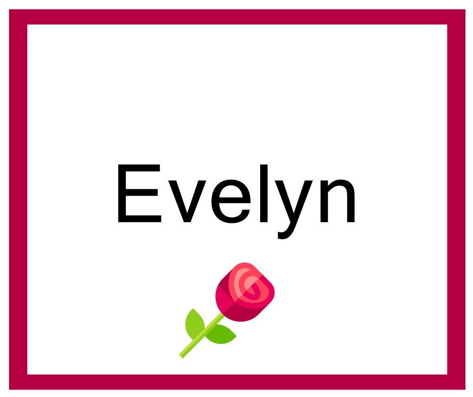 Combinación de Nombres de niña para Evelyn