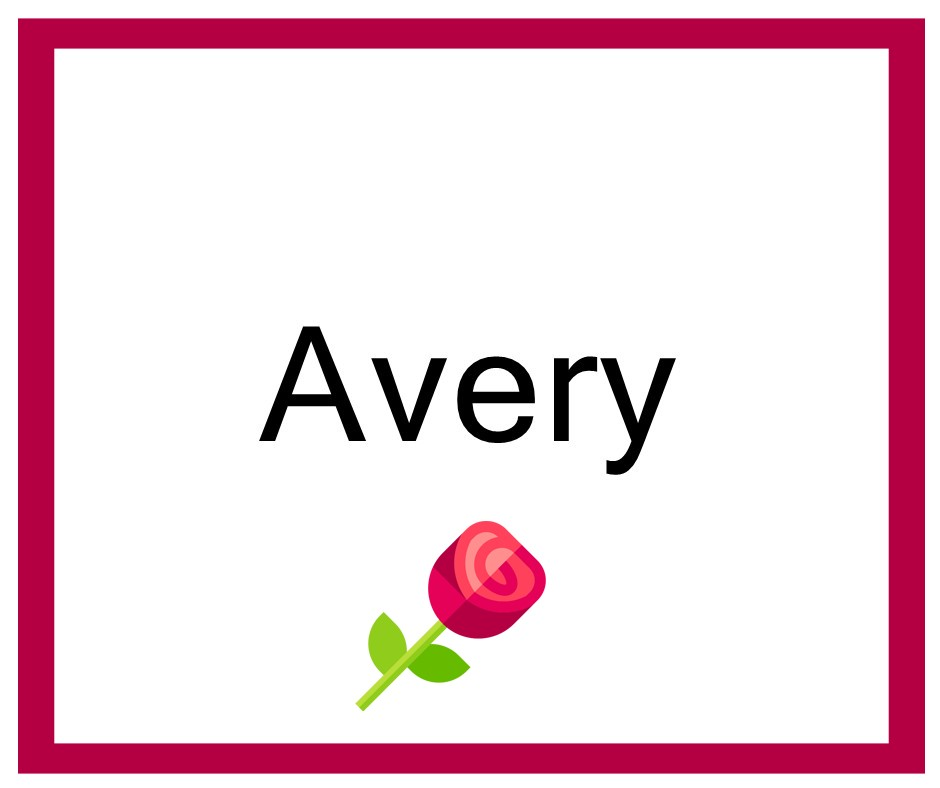 Combinaciones de Nombres Avery - Niña
