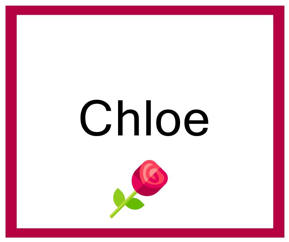 Combinación de Nombres de niña para Chloe