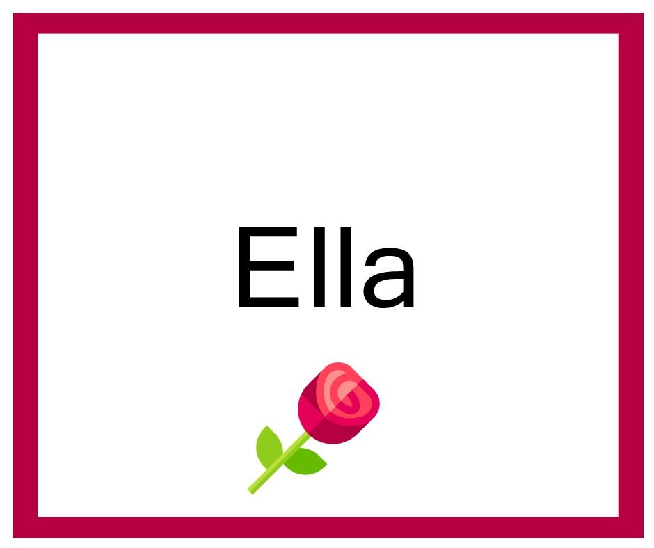 Combinaciones de Nombres Ella - Niña