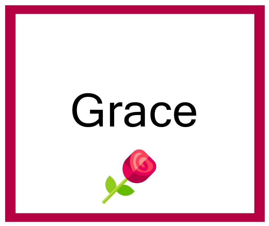 Combinaciones de Nombres Grace - Niña