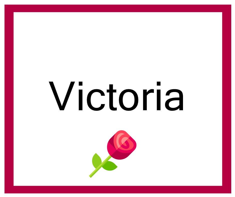 Combinaciones de Nombres Victoria - Niña