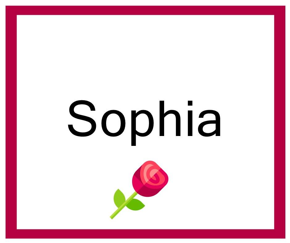 Combinaciones de Nombres Sophia - Niña