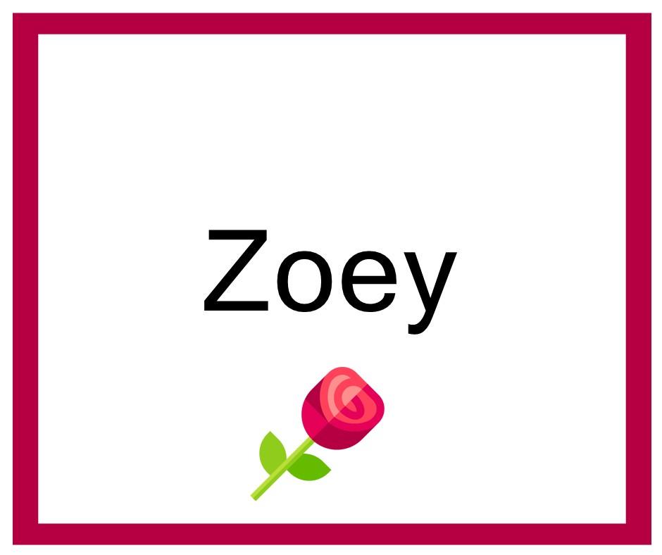 Combinaciones de Nombres Zoey - Niña