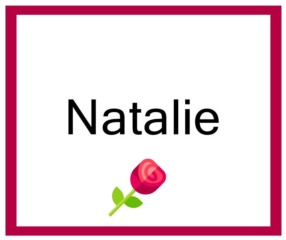 Combinaciones de Nombres Natalie - Niña