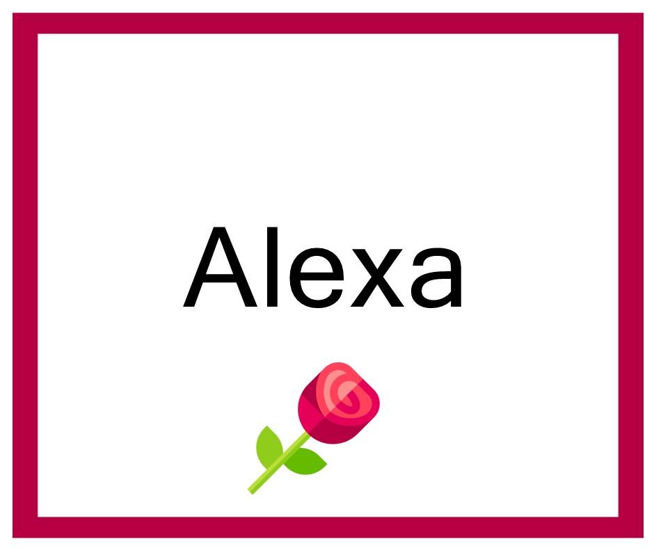 Combinaciones de Nombres Alexa - Niña