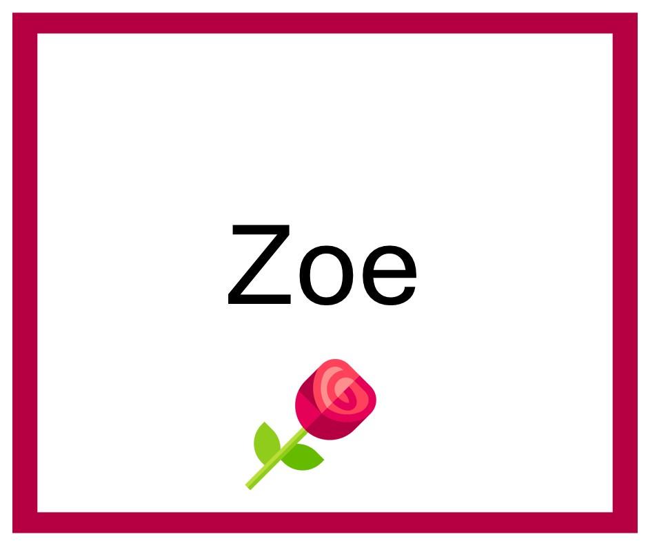 Combinaciones de Nombres Zoe - Niña