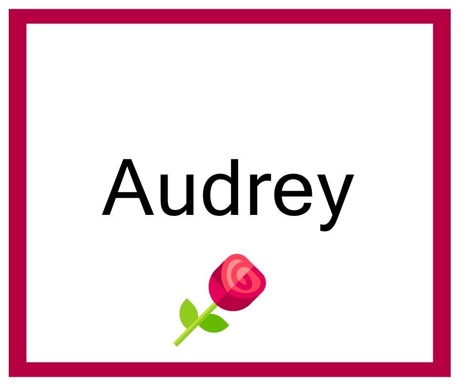 Combinaciones de Nombres Audrey - Niña