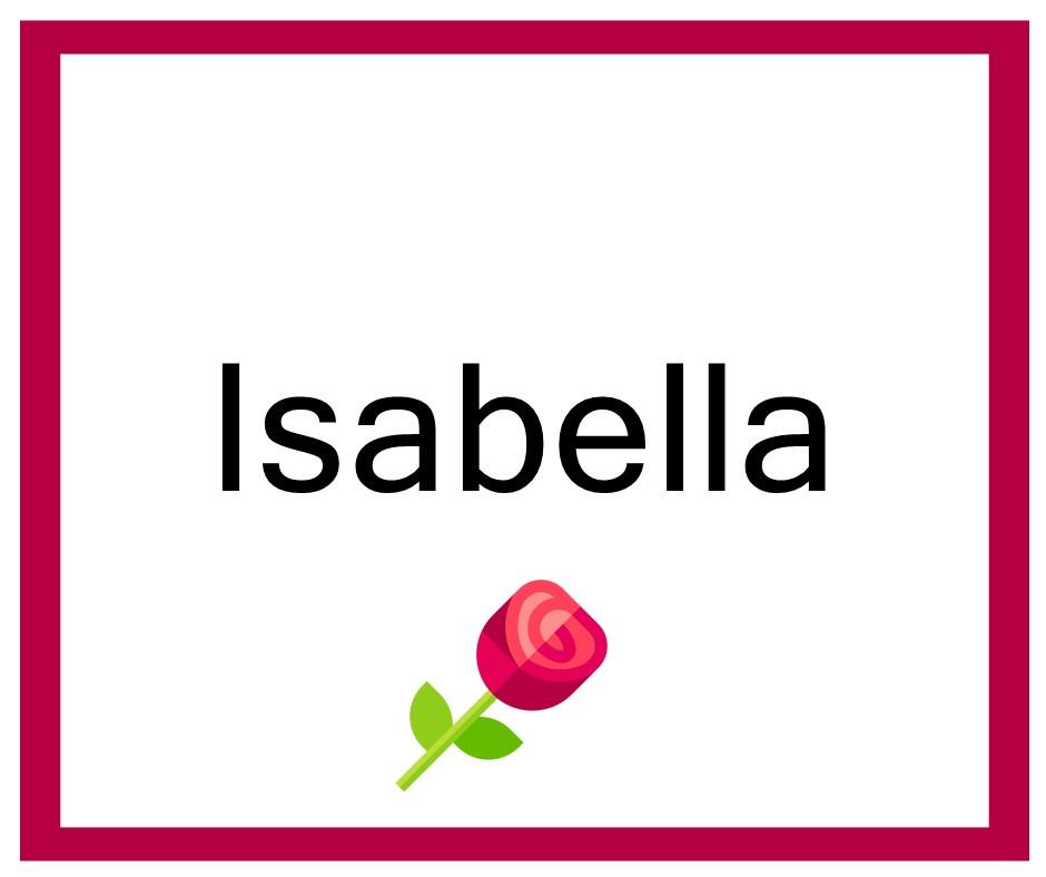 Combinaciones de Nombres Isabella - Niña