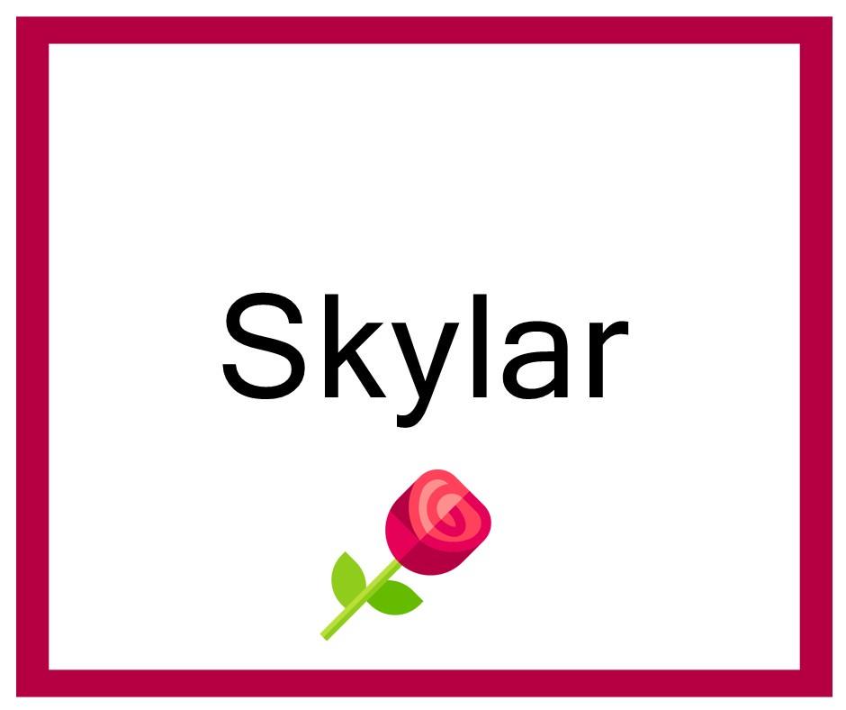 Combinaciones de Nombres Skylar - Niña
