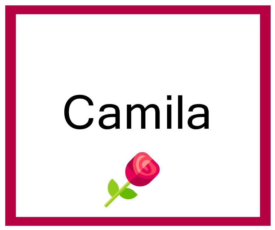 Combinaciones de Nombres Camila - Niña