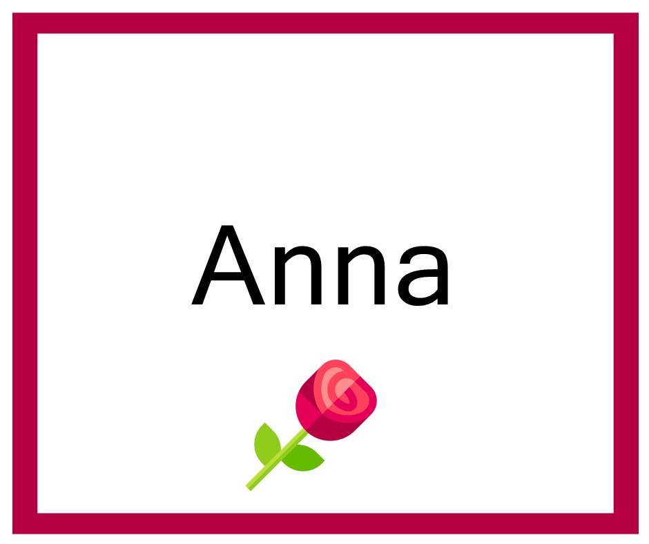 Combinaciones de Nombres Anna - Niña