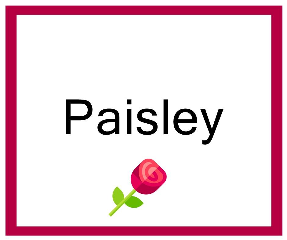 Combinaciones de Nombres Paisley - Niña
