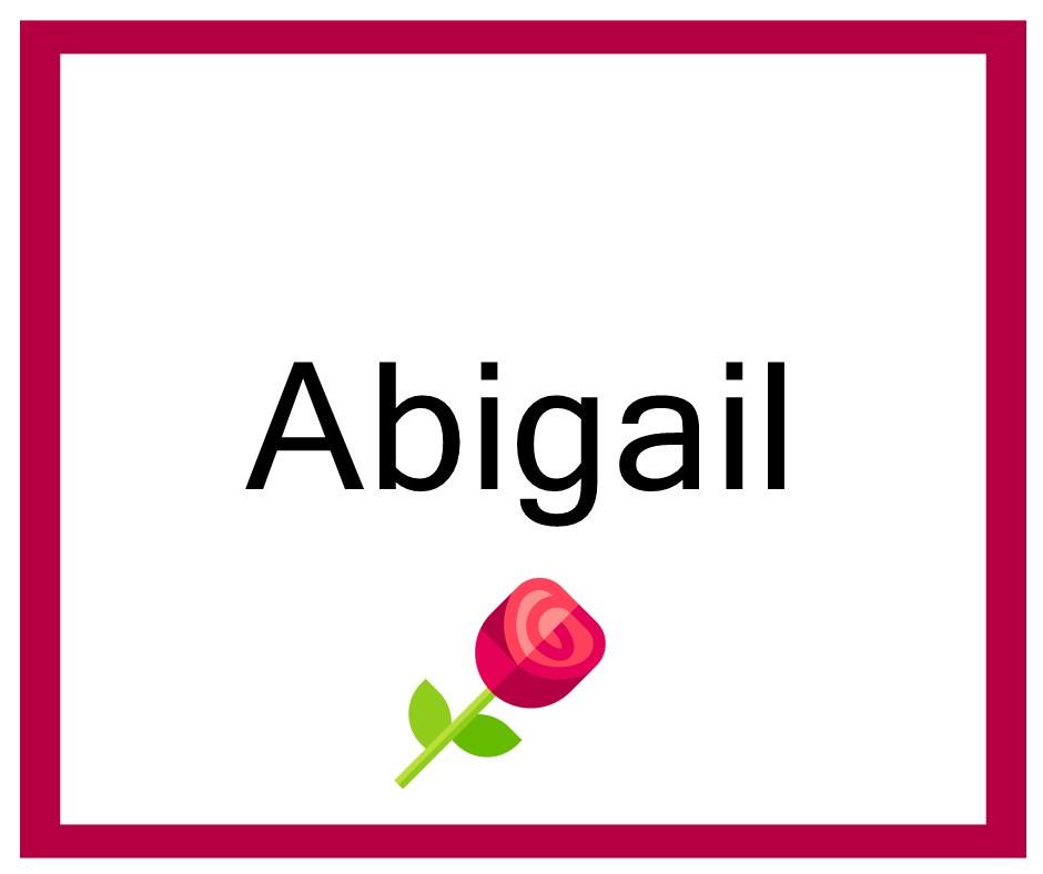 Combinaciones de Nombres Abigail - Niña