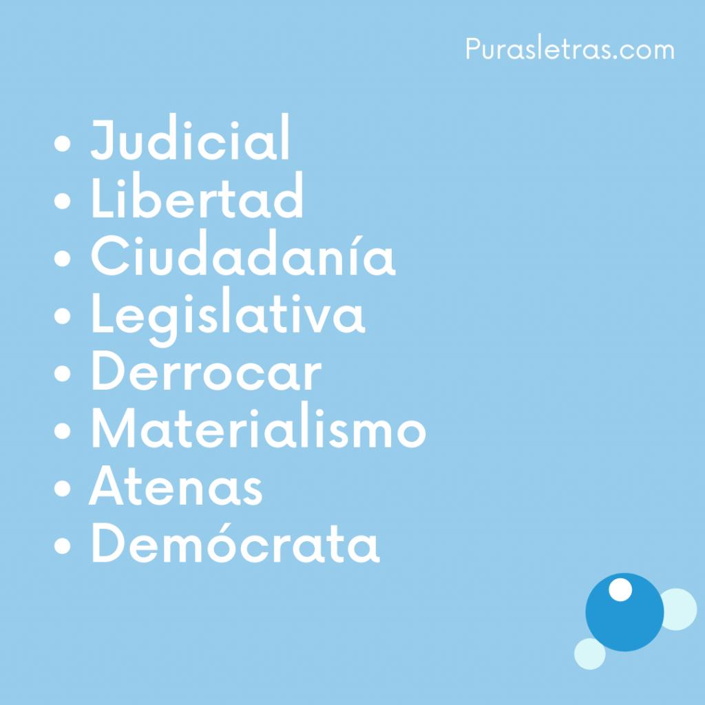 10 palabras relacionadas con la democracia