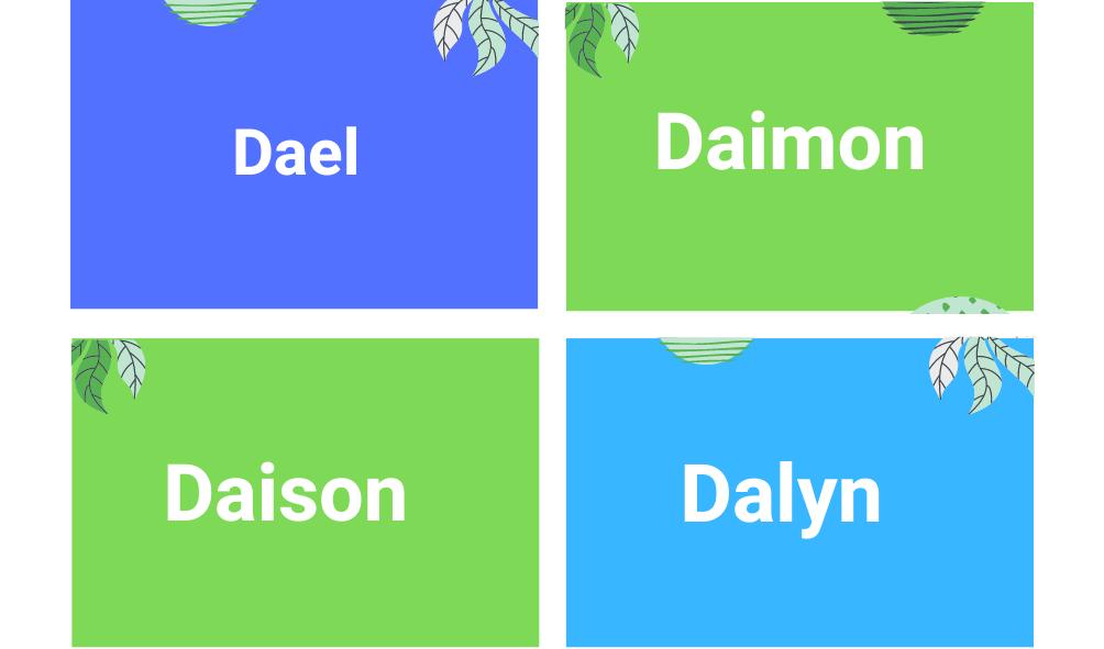 Nombres de varones que empiezan con D
