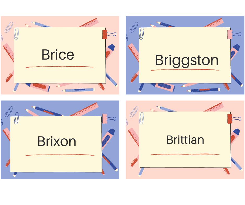 Nombres de hombres que empiecen con Bri
