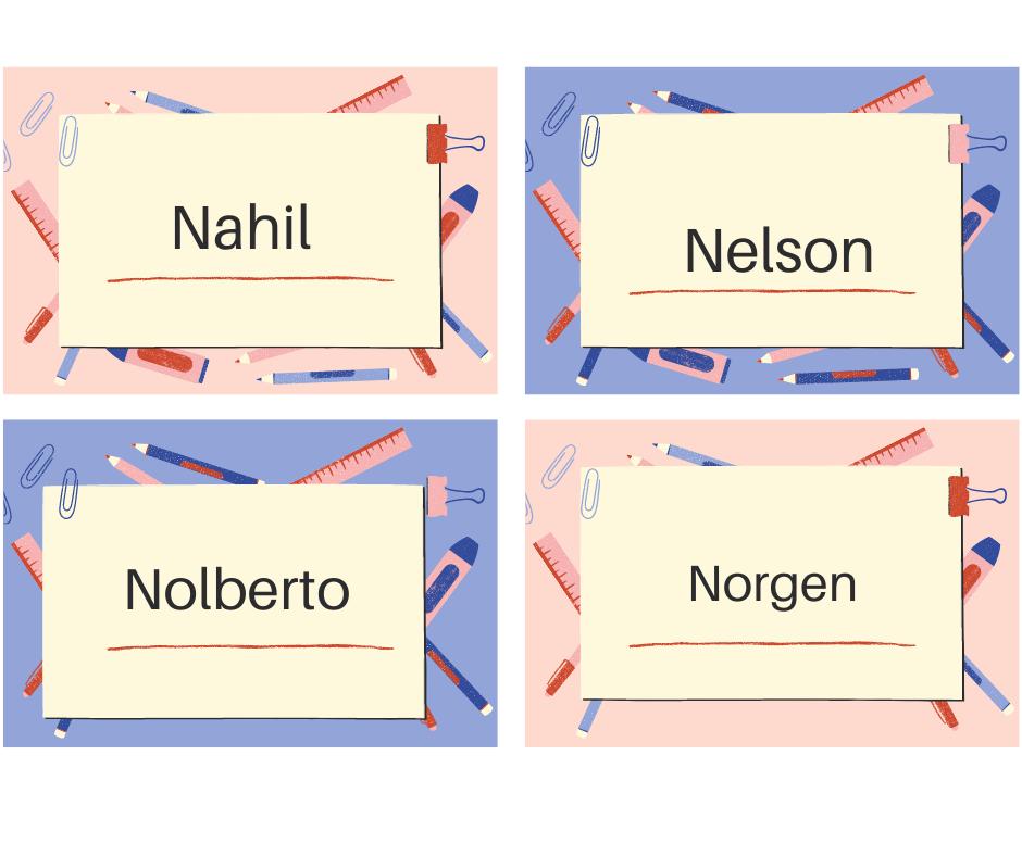 Nombres de hombre que empiecen con la N